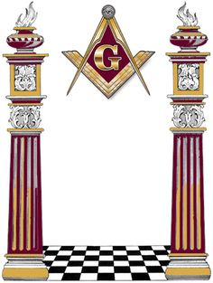 Freemasonry:  #Freemasonry, two pillars.
