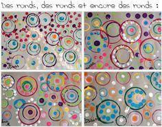 Les ronds - Kindergarten Art Lessons, Art Mat, Dot Day, Craft Online, Yayoi Kusama, Ecole Art, Montessori Activities, Collaborative Art, Preschool Art