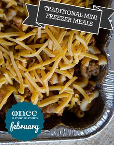 Traditional Mini February 2013 Menu #freezer