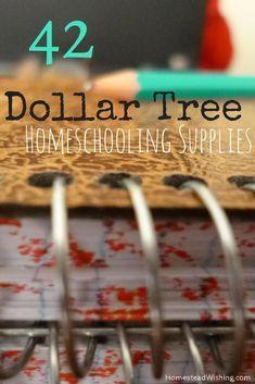 42 Dollar Tree Homeschool Supplies List