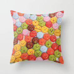 kawaii chocolate Throw Pillow