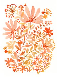 Watercolor Flowers - Vikki Chu