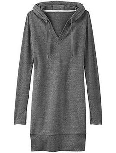 Bliss Hoodie Dress - The cozy French terry dress with rib-knit sleeves sure to be the go-to post-gym coverup for hoodie lovers everywhere.