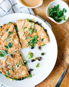 Chipotle Black Bean and Avocado Quesadillas | A Couple Cooks