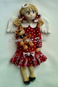 dziewczyna aniołek z masy solnej upomnek dla dziecka aniołek z misiem dekoracja pokoju dziecięcego aniołek masa solna aniołki z masy solnej anioł Oliwia Art Deko salt dough (3).jpg