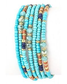Bead Stretch Bracelet - so cute!