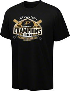 70fbfb53 Purdue Boilermakers Black 2012 Big 10 Conference Baseball Champions T-Shirt  Purdue University, Nfl