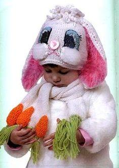 Шапка-зайка для ребенка / Вязание спицами / Вязание спицами для детей