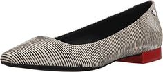 Calvin Klein Women's Elle Ballet Flat, Black/White, 7.5 M US * Click image to review more details.