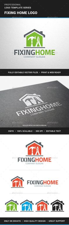 Fixing Home Logo Template,build, carpenter, carpentry, company, construction, electrician, fix, floor, hammer, help, home, house, interior, logo, plier, property, renovation, repair, roof, service, template, tradesman, vector, wire