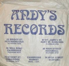 Back in the day when every high street had a record shop and people went out to buy vinyl. Check out these images of record shop bags from times gone by. Vinyl Store, Buy Vinyl, Store Signage, Cambridge Uk, Vinyl Junkies, Vintage Records, Do You Remember, Music Industry, Good Music