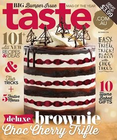 @teamtaste #magazines #covers #december #2016 #food #recipes #meals #budget #ideas #trifle #brownie #baking