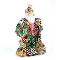Glass Ornament - Nature's Friend Santa