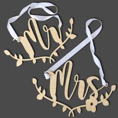 Buy this Mr & Mrs Wooden Chairback set signage now for your wedding table. It is a matching set, shop our online store for more wedding related products. Chair Backs, Mr Mrs, Wedding Accessories, Wedding Table, Signage, South Africa, Wedding Decorations, Polka Dots, Weddings