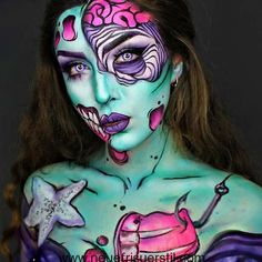 Halloween Make-up-SKELETON KÖNIGIN