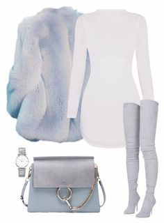 Love this look fashion coat boots handbag and sweater dress Teen Fashion Outfits, Swag Outfits, Mode Outfits, Cute Casual Outfits, Look Fashion, Stylish Outfits, Winter Outfits, Winter Fashion, Womens Fashion