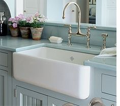 Butler sinks are definitely making there way back and not just in the kitchen.
