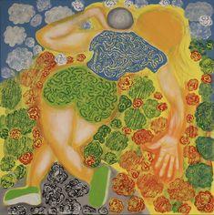 Shot Putter/Maarit Korhonen, acrylic, oil sticks, crayon, canvas, 73cm x 73cm Dark Paintings, Original Paintings, Online Painting, Artwork Online, Dancer In The Dark, Crayon Painting, Sports Painting, Autumn Painting, Canvas Art