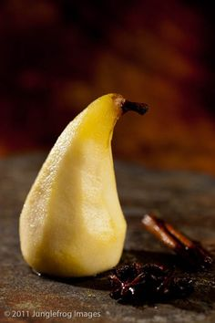 These honey poached pears may not exactly look the part but they win in terms of flavor!