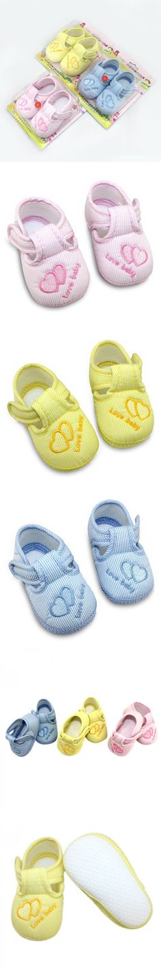 New First Walkers Baby Shoes Toddler Soft Sole Skid-proof Kids infant Shoes 3 Colors $1.04