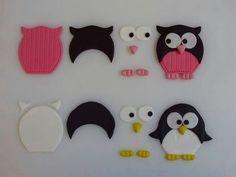 hoe je een uil en een pinguïn moet maken va fimo klei