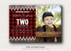 Printable Little Explorer Invitation - Boy Birthday Invite - Boys Party Theme - First Birthday Invitation - Buffalo Plaid - Adventure Awaits  Celebrate your little boys birthday with this Adventure birthday invitation! This printable invitation features red buffalo plaid, with simple, classic typography and will be customized with your information.  This listing is for a DIGITAL FILE. No physical product will be shipped to you. Files do not include bleed. If you are printing with VistaPrint…