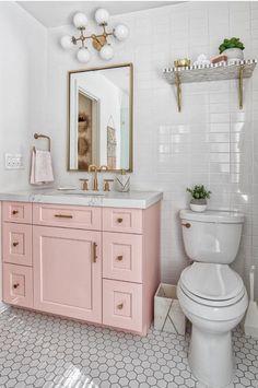 pink bathroom 60 Gorgeous Bathroom Countertops Ideas That Make Your Bathroom Look Elegant - Millions Grace Pink Vanity, Gorgeous Bathroom, Bathroom Countertops, Bathroom Inspiration, Decor Design, Bathroom Decor, Pink Bathroom, Trendy Bathroom, Bathroom Kids
