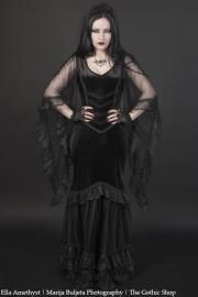 Calliope Fishtail Gothic Dress by Sinister