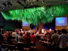 fabric trees set design modern theatre - Google Search