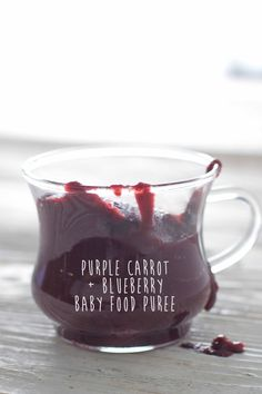 purple carrot blueberry puree