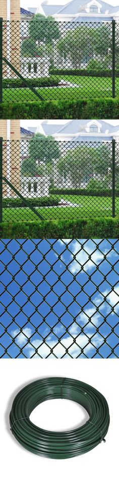Other Garden Fencing 177033: Patio Chain Link Fence With Posts Hardware Garden  Outdoor Border 3