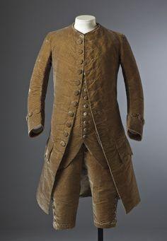 Man's silk velvet suit, c.1770, part of the costume collection at Ham House, Surrey.  ©National Trust Images/John Hammond