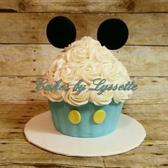 Baby Mickey Mouse Giant Cupcake Smash Cake
