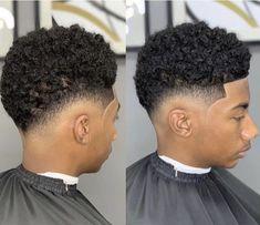 Mens Braids Hairstyles, Black Men Hairstyles, Black Boys Haircuts, Haircuts For Men, Medium Hair Cuts, Short Hair Cuts, Curly Hair Men, Curly Hair Styles, Drop Fade Haircut