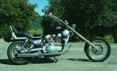 Kawasaki ? VN 1500 - 14°- KIT gereckte Brücken u. lange Holme, 310mm breit VN1500 Speichenräder - AME Chopper Products