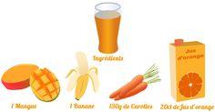 Découvrez et testez notre recette pour un Smoothie mangue carottes qui vous aidera à faire le plein d'énergie pendant votre semaine de Detox.