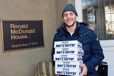 Bruins played last night in Detroit, but Gregory Campbell still bought and delivered 400 pies Thanksgiving morning, before practice, because he's Gregory Campbell. This is the third year he's done this. Character player, character person.