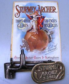 Veteran Vintage Motorcycle Sturmey Archer Clutch Pedal Triumph 3 Speed Hub