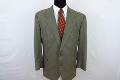 Vito Rufolo Men's Silk Wool Blend Check Sport Coat Blazer Jacket 48R Beige  #VitoRufolo #TwoButton