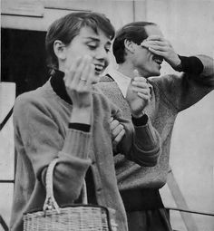 Audrey Hepburn with her first husband, Mel Ferrer