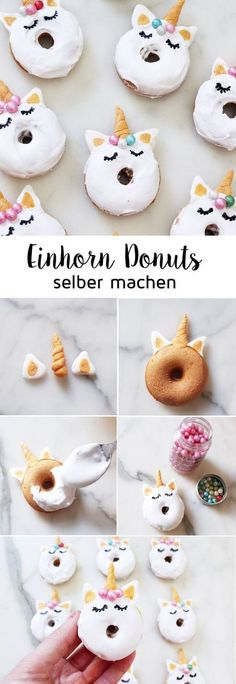 Bake Mini Donuts: recipe for sweet unicorn donuts!, Bake Mini Donuts: recipe for sweet unicorn donuts! My mini unicorn donuts not only look great, they also taste delicious: I use a mini donut maker * a. Baked Mini Donuts Recipe, Mini Donut Recipes, Baked Donuts, Donuts Beignets, Donuts Donuts, Candy Recipes, Dessert Recipes, Unicorn Foods, Unicorn Donut