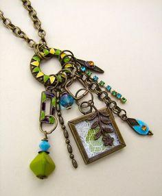 Tassel charm necklace idea!