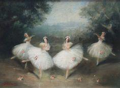Ballet Poses, Ballet Art, Ballet Dancers, Ballerina Painting, Vintage Ballet, Aesthetic Painting, Ballet Photography, Classical Art, Dance Art