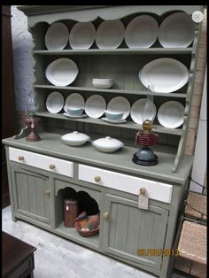 Annie Sloan painted and waxed Welsh dresser