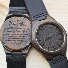 Engraved Wooden Watch For Dad - Great Gifts For Father Valentine Gifts For Husband, Gifts For Fiance, Great Gifts For Dad, Perfect Gift For Dad, Love Gifts, Gifts For Father, Unique Gifts, Fathers, Creative Gifts