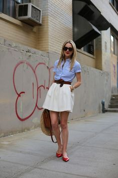 (Spring) Atlantic-Pacific: americana - fourth of july outfit maybe? Comfy Work Outfit, Cute Work Outfits, Summer Work Outfits, Summer Outfits Women, Office Outfits, Trendy Outfits, Summer Clothes, Moda Outfits, Girl Outfits