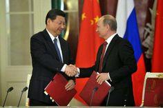 """Pregopontocom @ Tudo: O NEGÓCIO DA CHINA  Política  Aturdidos, """"analistas"""" e observadores """"ocidentais"""" estão fazendo força, nos diários econômicos internacionais, para ressaltar o caráter comercial do acordo. Esquecem-se, ou fingem esquecer-se, por conveniência, que tudo, ou quase tudo, que a Rússia e a China fazem, neste novo século, têm, em seu âmago, forte conotação geopolítica."""