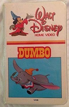 Rare Vintage Walt Disney Home Video DUMBO VHS - 1982 Release @ niftywarehouse.com #NiftyWarehouse #Disney #DisneyMovies #Animated #Film #DisneyFilms #DisneyCartoons #Kids #Cartoons