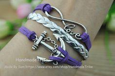 Silver Infinite Wish Love & Anchor Charm by HandmadeTribe on Etsy, $3.50 Fashion handmade jewelry