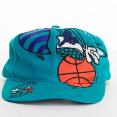 9ce9255a82f Charlotte Hornets Snapback Hat Vintage The Game NBA Basketball 1990 s Big  Logo Cap